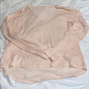Lululemon pink linen sweater